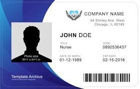 Identification Template 16 Id Badge Id Card Templates Free Template Archive