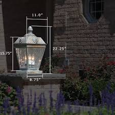 french country outdoor lighting. french country™ exterior pier light atop a low wall for landscape lighting country outdoor t