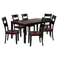 Shop 7 Piece Solid Wood Dining Set Boswell Modern Kitchen Table