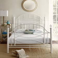 white metal platform bed. Exellent Bed Rest Rite Silvia Decorative White Queen Size Metal Platform Bed Frame Throughout H