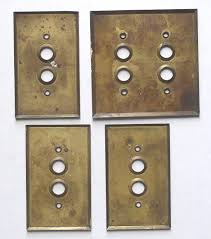 antique switch plates. Beautiful Antique 4 Antique Brass Push Button Switch Plates Covers Realized  For