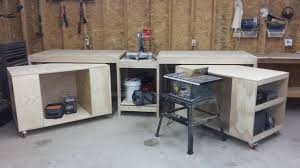 ana white miter saw stand with rolling tool storage carts diy projects