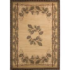 balta carlswell beige indoor lodge area rug common 5 x 7 actual