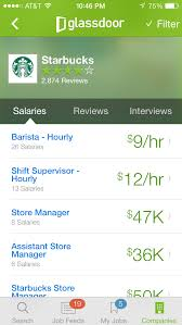 company reviews and sample interview questions are desktop only features but job hunters can look up this information on the app glassdoor