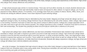 essay samples for college okl mindsprout co high school vs college at com essay samples for college