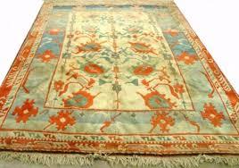 turquoise and orange rug