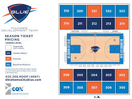 Cox Convention Center Seating Chart Thunder Announced The New Name For The D League Team