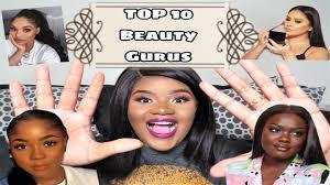 top 10 beauty gurus pt 1