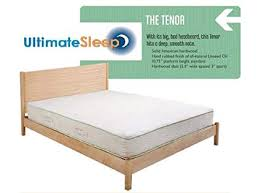 Amazon.com: The Tenor Solid Wood Bed Frame - Oak, Maple, Cherry or ...