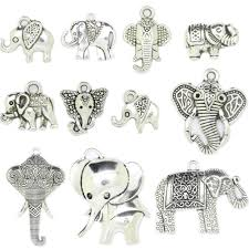 details about antique silver elephant head charms pendant carfts jewelry making diy lots j