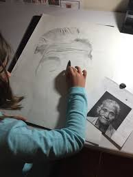 beginning drawing pencil portrait