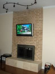 how to install tv mount on brick fireplace ideas