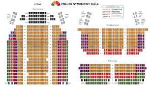 The Electric Factory Seating Chart Seating Chart Miller Symphony Hall Downtown Allentown