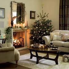 Decorations:Christmas Living Room Decorating Idea With Traditional Fireplace  Impressive Home Living Room Christmas Decoration