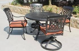 cast aluminum patio chairs. Sale 5 Piece Outdoor-Patio Cast Aluminum Chairs (4) \u0026 Round 48\ Patio