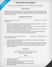 Barista Resume Unique Barista Resume Sample Writing Tips Companion Example 60 Ifest