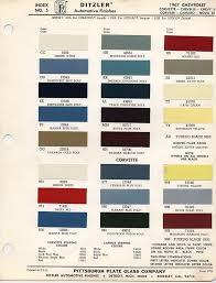 67 Corvette Color Chart Vote Which 1967 Bb Color Do You