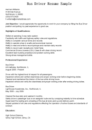 School Bus Driver Resume Examples Interesting Resume Sample For A Bus Driver With Additional School 8