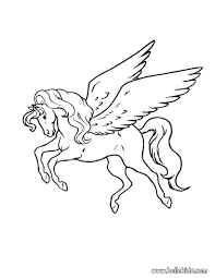 Flying Pegasus Coloring Page Free Printable Pages New Bitsliceme