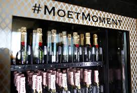 Champagne Vending Machine London New Brandchannel Moët No Way The Champagne Vending Machine Is Real