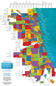 chicago neighborhoods map  chicago il • mappery