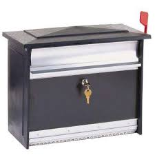 locking residential mailboxes. Mailsafe Black Wall-Mount Locking Mailbox Locking Residential Mailboxes C