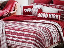 max studio home red white queen full quilt set cotton
