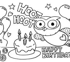 Birthday Coloring Pages Printable Cool Photos Happy Birthday