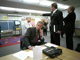 「bush in school at the time of 9.11.」の画像検索結果