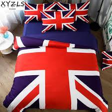 xyzls the union flag cotton bedding set us au uk queen bedclothes the union jack twin full bed linings king double bedding kit velvet duvet cover flannel