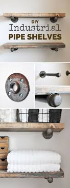 13 Easy DIY Shelves for Home Decor on a Budget. Industrial Pipe ...