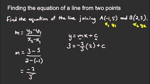general form of the equation of a line