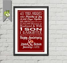 ruby 4oth anniversary gift subway printable personalized custom love story stats marriage subway sign print unique your colors