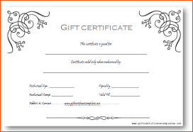6 Gift Certificates Templates Bookletemplate Blank Gift Cards For