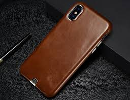 ultra thin genuine leather iphone x case