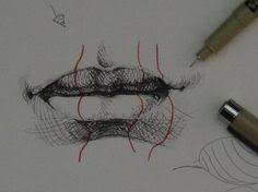 pen ink drawing tutorials how to draw realistic lips playlist
