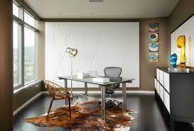 stylish home office desks. Architecture, Best Ideas Design Your Space Gray Wall Paint Ceramic Flooring Tile Fur Rug Floor Stylish Home Office Desks