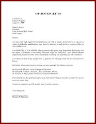 Cover Letter Outline Classy 48the Format Of An Application Letter Resume Cover