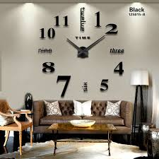 Small Picture 2016 New Home decoration big mirror wall clock modern design 3D