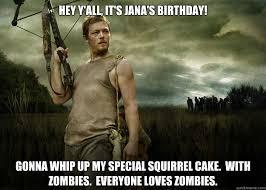 Happy Birthday From: Daryl - Daryl Dixon from The Walking Dead ... via Relatably.com
