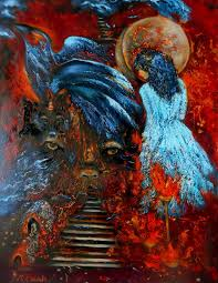 saatchi art artist natalya zhdanova painting fantasy oil painting with totem animals in