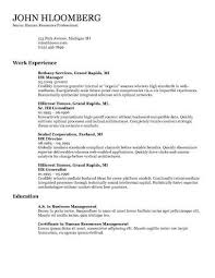 Standard Resume Layout