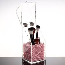 makeup brush holder beads. acrylic makeup brushes holder real technique brush storage with pearl beads