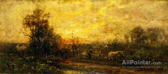 charles henry miller paintings for plowing the field at sunset