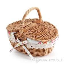 2019 picnic basket belly storage basket straw basket handmade wicker storage bag wooden color storage with lid from novelty 1 25 63 dhgate com
