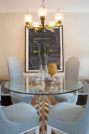 glass table with gray entry contemporary and traditional artificial lillies