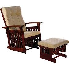 image of mission glider rocker chair ottoman 2