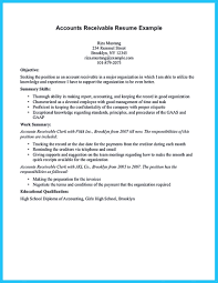 Resume And Accounts Receivable Samples Clerk Example Writing