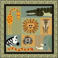 Jungle Theme Baby Quilt Patterns & Kid And Baby Quilt Patterns ... & Chicken Hearted Quilt Pattern FCP-043 (advanced Beginner, Wall ... image  number 18 of jungle theme baby ... Adamdwight.com