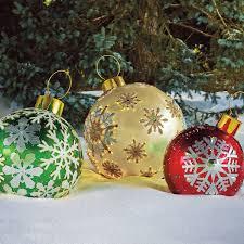 Lighted Christmas Ornaments Ball Big Light Up Christmas Balls Pogot Bietthunghiduong Co
